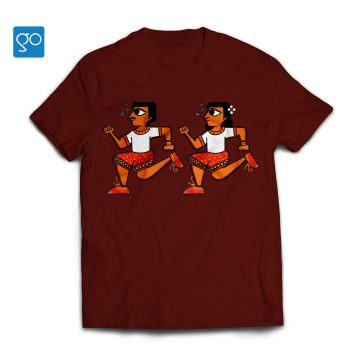 Warangal-Souvenir-Tshirt-maroon-white