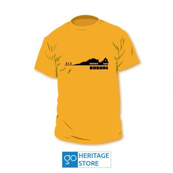 Badami-temple-landscape-orange-tshirt